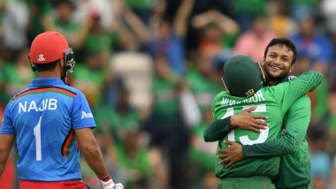 Bangladesh vs Afghanistan, ICC CWC 2019 Match Result and Report: Shakib Al Hasan Produces All-Round Performance Against AFG to Keep BAN in Hunt For Semi-Final Position