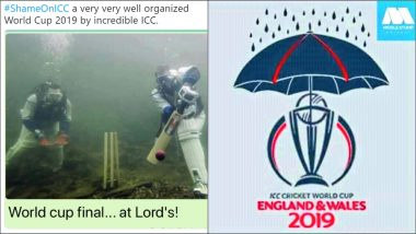 'Shame on ICC' Trends as Twitterati Post Funny Memes and Jokes After Four CWC 2019 Matches Get Abandoned Due to Rains!