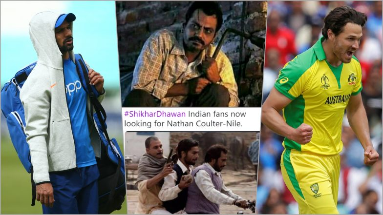 Shikhar Dhawan Fans Abuse Nathan Coulter-Nile for Injuring Team India Opener and Putting His CWC 2019 Participating in Doubt!