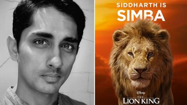 Siddharth to Lend his Voice for Simba in The Lion King's Tamil Version