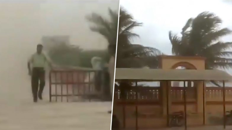Strong Winds, Dust Hit Somnath Temple as Cyclone Vayu Approaches Gujarat Coast - Watch Video