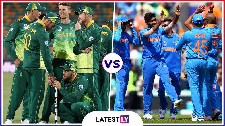IND vs SA Head-to-Head Record: Ahead of ICC CWC 2019 Clash, Here Are Match Results of Last 5 India vs South Africa Encounters!