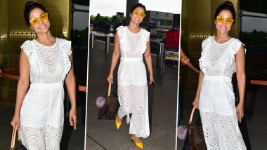 Hina Khan's Recent Airport Appearance Scores High on Our Fashion Meter (View Pics)