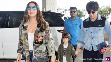 Shah Rukh Khan, Gauri Khan and AbRam in Vacay Mode As the Stylish Trio Hit the Airport (See Pics)