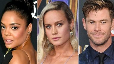 Chris Hemsworth and Tessa Thompson Would Love To Star In An MCU Love-Triangle Between Thor, Valkyrie And Captain Marvel!