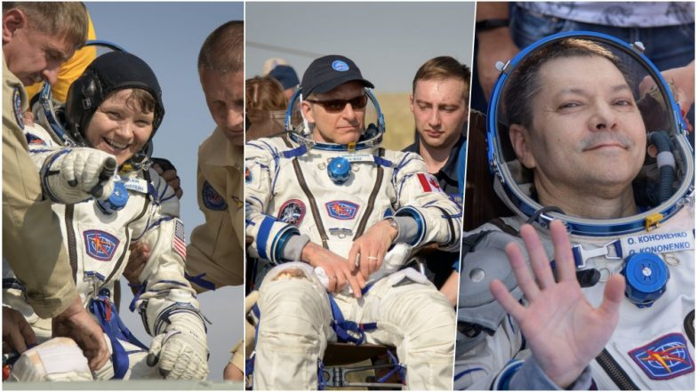 Three Astronauts Return From International Space Station After 204 Days, View Pics and Videos of Their Landing on Earth