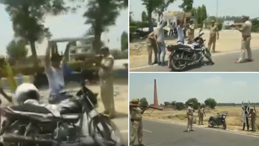 Uttar Pradesh Police Point Guns at Commuters for Regular Checkings in Badaun; Watch Video