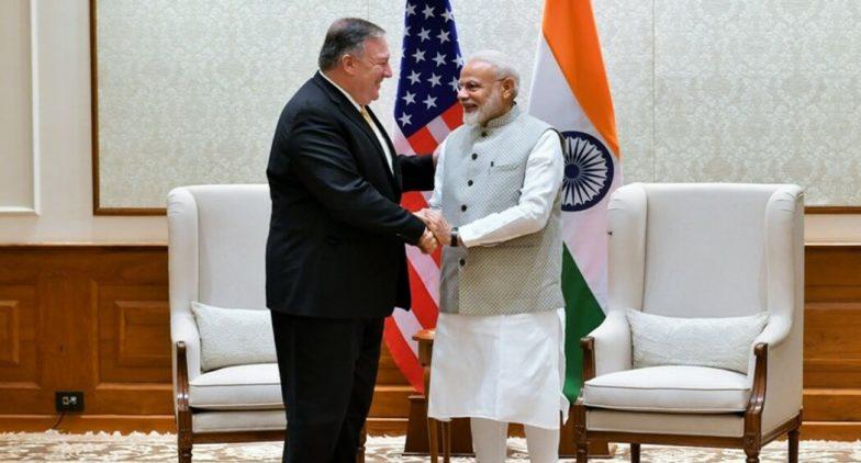US Secretary of State Mike Pompeo Meets PM Narendra Modi, EAM S Jaishankar in New Delhi; Terrorism, H1B Visa, Russia Arms Deal In Focus