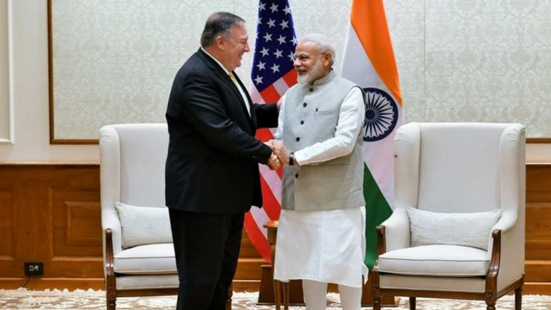 US Secretary of State Mike Pompeo Meets PM Narendra Modi, EAM S Jaishankar in New Delhi; Terrorism, H1B Visa, Russia Arms Deal In Focus