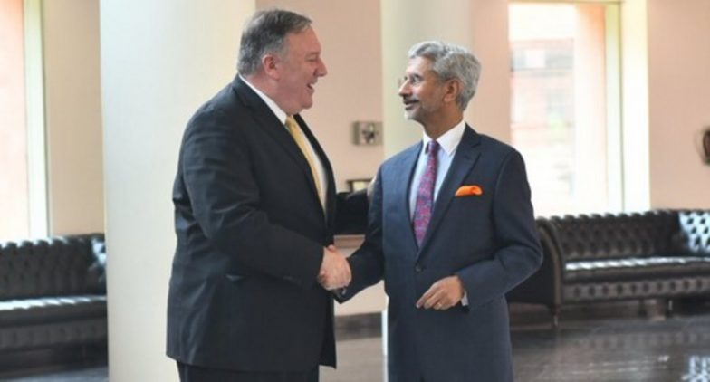 India-US Joint Statement: EAM S Jaishankar, US Secretary of State Mike Pompeo Discuss Terrorism, Defence, Iran and Other Bilateral Issues