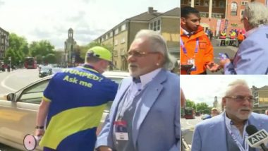 Vijay Mallya Arrives at The Oval to Watch India vs Australia Match in ICC Cricket World Cup 2019
