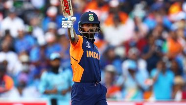 Virat Kohli Becomes First Captain to Score Five Consecutive 50-Plus Scores in a World Cup, Achieves Feat During IND vs ENG CWC 2019 Match