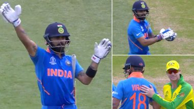 This Day That Year: Virat Kohli's Spirit of Cricket Act Won Hearts After Crowd Booed Steve Smith During India vs Australia Match in ICC World Cup 2019 (Watch Video)