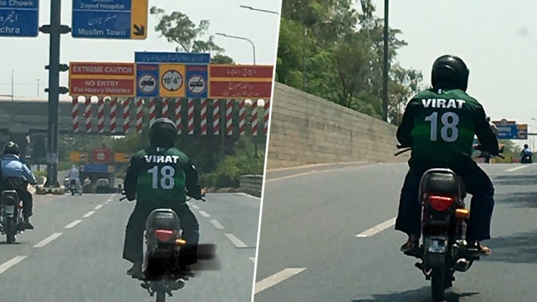 Virat Kohli Fan in Pakistan Jersey Spotted in Lahore Ahead of India vs Pakistan Cricket World Cup 2019 Clash, See Photos