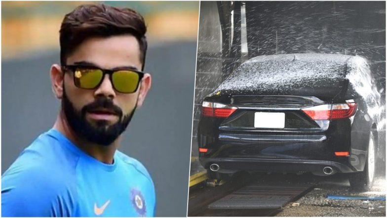 Image result for kohli washed his car