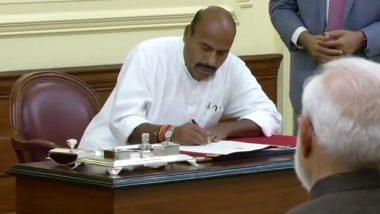 Virendra Kumar Takes Oath As the Protem Speaker of the 17th Lok Sabha
