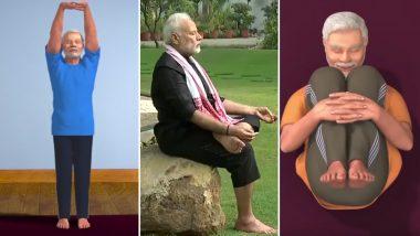 International Day of Yoga 2019 With PM Modi: Watch Videos of Narendra Modi Performing Yogasanas