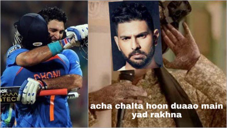 Yuvraj Singh Retires From International Cricket, Twitterati Bids Farewell to India's 2011 Cricket World Cup Hero