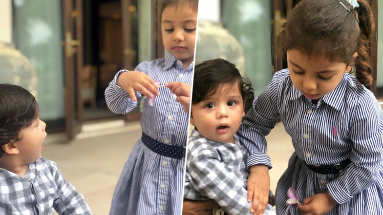 Zain Kapoor Pinches Sister Misha and Their Cute Banter is Captured by Mom Mira Kapoor! (View Pics)