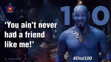 In Mumbai Police's New PSA, They Collaborate with Aladdin's Genie to Let the Citizens Know 'You Ain't Never Had a Friend Like Me' – View Tweet