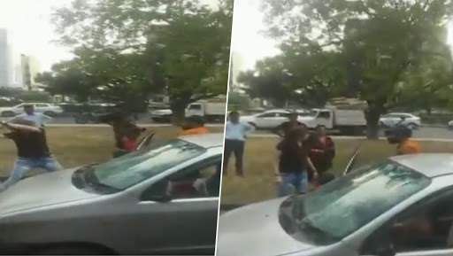 Chandigarh Road Rage: Girl Thrashes Boy With Rod After Their Cars Ram Into Each Other, Watch Video