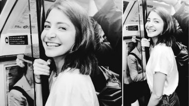 Anushka Sharma Is Having a Fun Metro Ride in London, Her Smiling Monochrome Picture Is the Proof! (View Pic)
