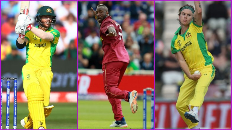 AUS vs WI, ICC Cricket World Cup 2019 Match 10, Key Players: David Warner, Andre Russell, Adam Zampa and Other Cricketers to Watch Out for in Nottingham