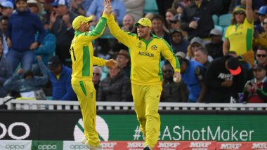 ICC Cricket World Cup 2019: First Part Ticked Off, Says Aaron Finch After Australia Becomes First Team to Qualify for Semi-Finals