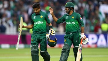 Sarfaraz Ahmed Asks Fans to Cheer for Babar Azam After Pakistan's Win Over New Zealand in ICC CWC 2019 Match (Watch Video)