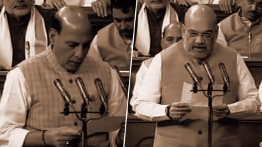Rajnath Singh and Amit Shah Take Oath As Lok Sabha MPs in the Presence of Narendra Modi