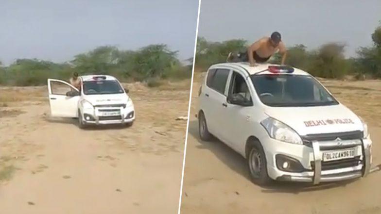 Viral TikTok Video of Man Doing Stunt on 'Delhi Police' Vehicle Is Making Internet Furious!