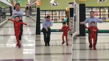 Viral Video of Five-Year-Old Boy Dancing in Supermarket With Granddad a Day Before Major Surgery Is All the Positivity You Need Today!