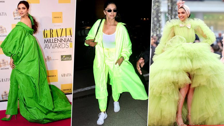 Deepika Padukone is Currently Obsessed with 'Green' Colour and Her Recent Fashion Outings are Proof (View Pics)