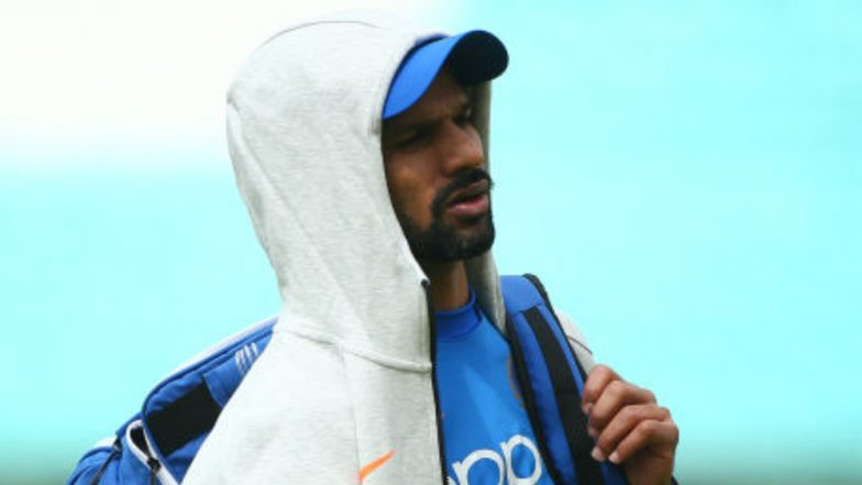 Shikhar Dhawan Spotted During Team India's Practice Session Ahead of CWC 2019 Match Against New Zealand, Watch Video