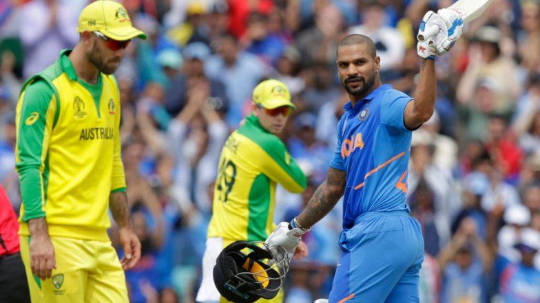 India vs Australia, ICC CWC 2019 Stat Highlights: Shikhar Dhawan Ton Helps IND Register 36-Run Win Over AUS