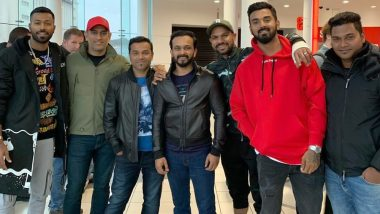 Injured Shikhar Dhawan Along With MS Dhoni and Other Team India Members Enjoys Salman Khan's Bharat Movie in England (See Pic)