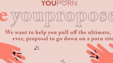 XXX Site Youporn.com Will Now Let You Propose to Your SOS in Front of 20 Million People on Its Homepage