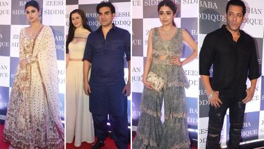 Baba Siddiqui's Iftar Party: Salman Khan, Mouni Roy, Arbaaz Khan and Other Celebs Attend the Soiree (View Pics and Videos)