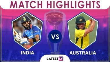 India vs Australia Stat Highlights: IND Beat AUS by 36 Runs in CWC 2019 Match 14