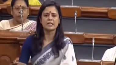 Mahua Moitra of TMC Takes Internet by Storm After Fiery Maiden Speech in Lok Sabha; Watch Video