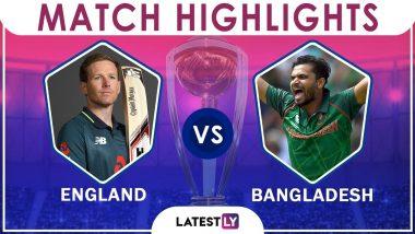 England vs Bangladesh Stat Highlights: ENG Beat BAN by 106 Runs in CWC 2019 Match 12