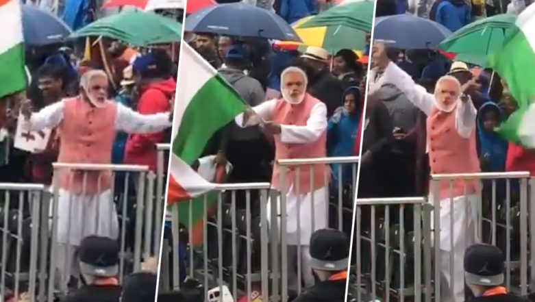 Hilarious Video of Man Dancing Wearing Narendra Modi Mask and Dressed Like PM in the Cricket Stadium Goes Viral During ICC World Cup 2019