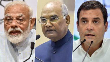Eid ul-Fitr 2019 Greetings: President Ram Nath Kovind, PM Narendra Modi, Congress President Rahul Gandhi And Other Leaders Extend Eid Mubarak Wishes
