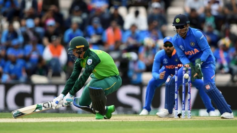 MS Dhoni Unfazed by His Glove Controversy; Sweats it Out in the Nets Ahead of IND vs AUS, CWC 2019 (See Pics & Video)