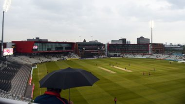 Manchester Weather Updates: Rains Suspends Play | Hour by Hour Rain Forecast During India vs New Zealand CWC 2019 Semi-Final Match at Old Trafford Cricket Ground