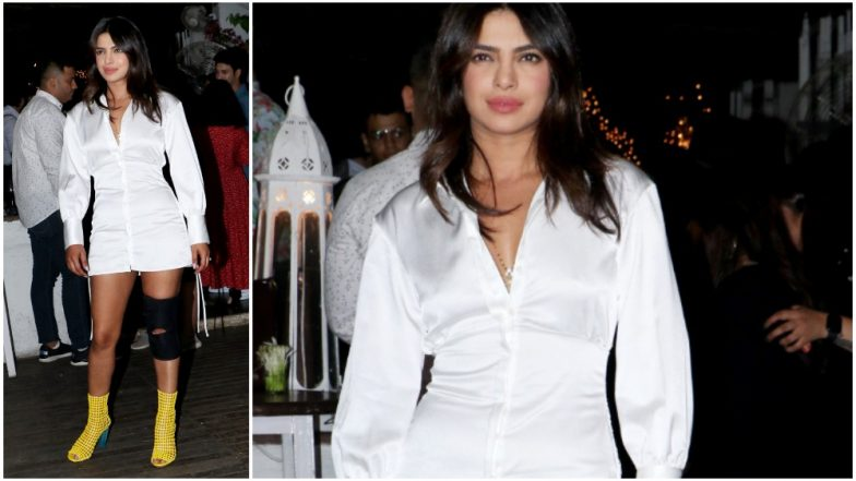 Priyanka Chopra Looks Chic in her White Dress at The Sky is Pink Wrap Up Bash but it's Her Kneecap that Has Gotten us Worried - View Pics