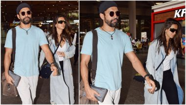 Farhan Akhtar and Shibani Dandekar's Latest Airport Pictures Prove their PDA is Strictly Restricted to Instagram