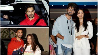 Varun Dhawan-Natasha Dalal, Angad Bedi-Neha Dhupia, and Other Celebs Attend Kabir Singh Special Screening! View Pics