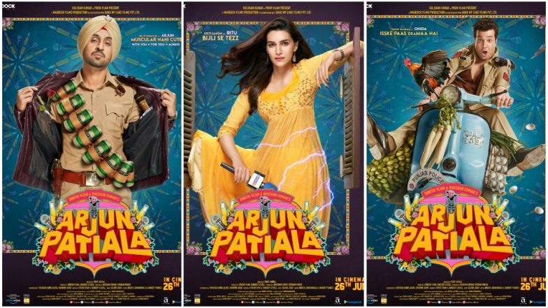 Arjun Patiala First Posters Out! The Trailer of Diljit Dosanjh, Kriti Sanon and Varun Sharma's Wacky Comedy to Be Out on This Date!