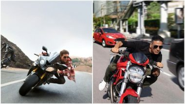 Sooryavanshi: Fans Are Already Comparing Akshay Kumar's Ducati Stunt With Tom Cruise Zooming Away in Mission: Impossible Franchise!